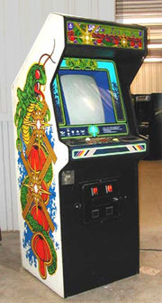 Centipede by Atari is a typical example of a 1980s era arcade game.