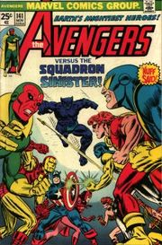 Avengers #141 (November 1975), in which Avengers fight the Squadron Sinister. Art by Gil Kane.