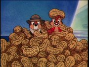 Chip and Dale emerging from a pile of peanuts, from Chip 'n Dale Rescue Rangers