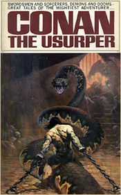 The cover of Conan the Usurper (1967) by Frank Frazetta (artist).