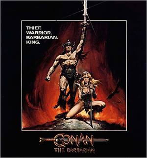 Movie poster for Conan the Barbarian (1982).