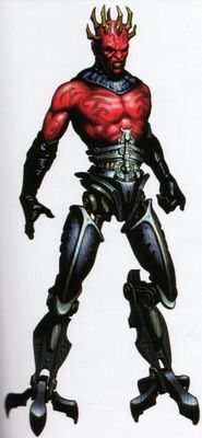 In another version, Darth Maul survives to replace his severed lower body with droid prosthetics