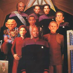 The cast of DS9 in season six.