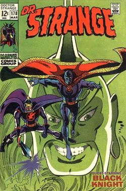"Dr. Strange #178 (March 1969): The full-face cowl and ""Dr. Stephen Saunders"". Art by Gene Colan & Tom Palmer."