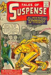 Marvel's first Dr. Strange: Tales of Suspense #41 (May 1963), cover art by Jack Kirby (pencils) & Sol Brodsky (inks)