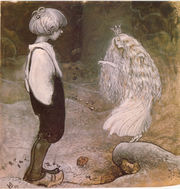 illustration from Alfred Smedberg's The seven wishes in among pixies and trolls by John Bauer