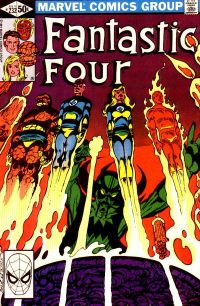 "John Byrne gets  ""Back to the Basics"" in Fantastic Four #232, his debut as writer-artist. Cover inks: Terry Austin."