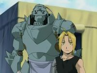 The Elric brothers, Alphonse (left) and Edward (right)