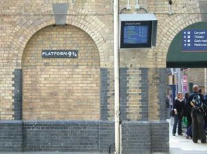 Platform 9 3/4, the reception platform for students journeying on the Hogwarts Express