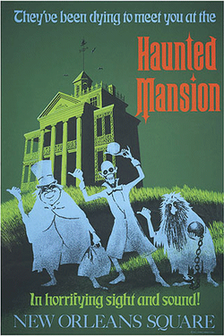A poster for the Haunted Mansion