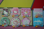 The 3-D magnets issued by Taiwan 7-Eleven convenience store for Hello Kitty's 30th anniversary.