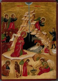 An icon of The Nativity