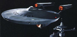 The USS Enterprise (NCC-1701) from Star Trek is an iconic image from television science-fiction.