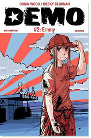 Demo by Brian Wood (story) and Becky Cloonan (art) is an example of an American comic that is influenced by manga