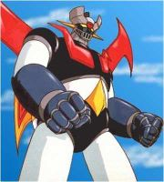 Mazinger Z standing from the series.