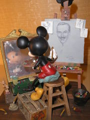 Mickey drawing Walt Disney