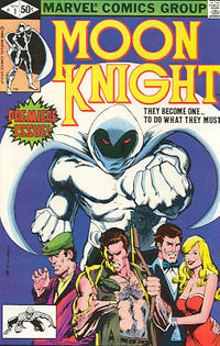 Moon Knight #1, art by Bill Sienkiewicz.