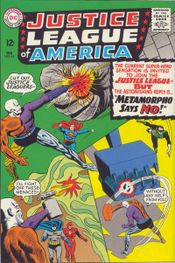 The Silver Age gets named in a letters column: Justice League of America #42 (Feb. 1966}; art by Mike Sekowsky (penciler), Murphy Anderson & Bernard Sachs (inkers)