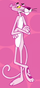 The Pink Panther cartoon character.