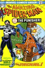 Cover to Amazing Spider-Man #129, the Punisher's first appearance. Art by Ross Andru.