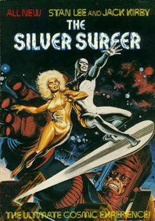 The Silver Surfer (Simon & Schuster/Fireside Books, 1978), one of the first graphic novels.Cover Art by Earl Norem