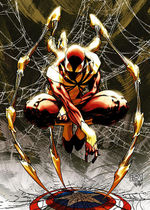 "The ""Iron Spider"" costume. Art by Michael Turner."