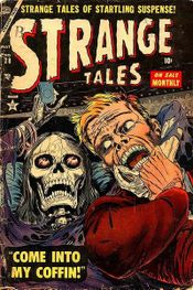 The pre-Comics Code Strange Tales #28 (May 1954), art by Harry Anderson.