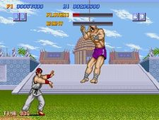 Ryu vs. Sagat on the first Street Fighter game