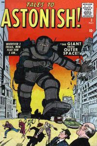 Inspiration for The Iron Giant? Tales to Astonish #3 (May 1959). Cover art by Jack Kirby & Chris Rule.