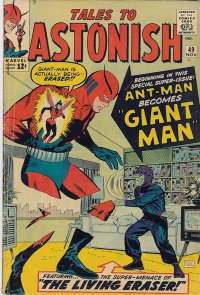 Tales to Astonish #49 (Nov. 1963). The Living Eraser ... um ... lives!  Cover art by Don Heck.
