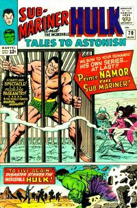 The Sub-Mariner feature begins: Tales to Astonish #70. Cover art by Jack Kirby & Mike Esposito.