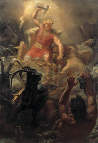 Thor's battle against the giants, by MÃ¥rten Eskil Winge, 1872