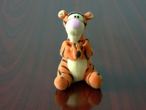 Plush doll depicting Tigger