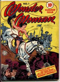 The first issue of Wonder Woman, Summer 1942. Art by H.G. Peter.