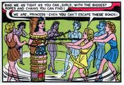 For Pre-Crisis Wonder Woman, getting tied up seems to be her crime-fighting weakness.
