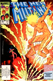 New Mutants #11, featuring Magma.