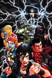 Cover of New X-Men #20, pencils by Mark Brooks. This issue marks not only a new direction for the title, but the dropping of Academy X from its title.