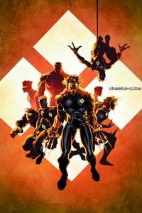 Cover to Ultimate X-Men #10, featuring the X-Men when they were in Weapon-X. Art by Adam Kubert.
